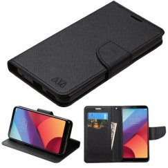 LG G6 Black Pattern/Black Liner wallet with card slot(84A)