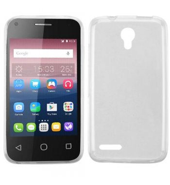 Alcatel Pixi 4 (3.5) Glossy Transparent Clear Candy Skin Cover