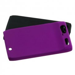 Motorola Droid RAZR Purple Fusion Case - Rubberized