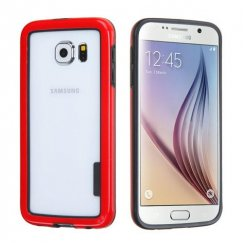 Samsung Galaxy S6 Black/Solid Red Case