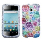 Huawei Ascend II / Prism / Summit Rainbow Bigger Bubbles Diamante Case