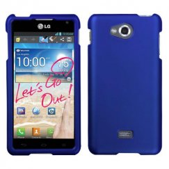 LG Spirit 4G Titanium Solid Dark Blue Case