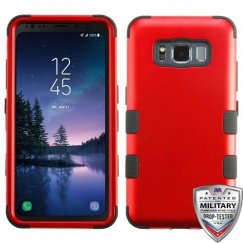 Samsung Galaxy S8 Active Titanium Red/Black Hybrid Case Military Grade