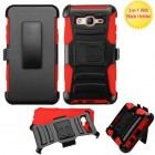 Samsung Galaxy On5 Black/Red Advanced Armor Stand Protector Cover (With Black Holster)