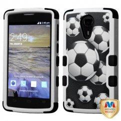 ZTE Uhura N817 Soccer Ball Collage/Black Hybrid Case