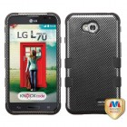 LG Optimus L70 Carbon Fiber/Black Hybrid Case
