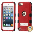 Apple iPod Touch (6th Generation) Natural Red/Black Hybrid Case with Stand