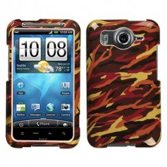 HTC Inspire 4G Camo/Yellow Case