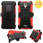 Alcatel One Touch Elevate Black/Red Advanced Armor Stand Protector Cover (With Black Holster)