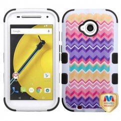 Motorola Moto E 2nd Gen Camo Wave/Black Hybrid Case