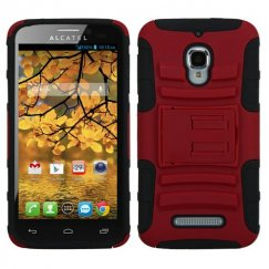 Alcatel One Touch Fierce Red/Black Advanced Armor Stand Case