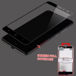 ZTE Grand X Max 2 Full Coverage Tempered Glass Screen Protector/Black