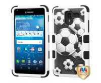 Soccer Ball Collage/Black TUFF Hybrid Protector Cover