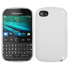 Blackberry 9720 Semi Transparent White Candy Skin Cover - Rubberized