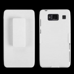 Motorola Droid RAZR MAXX HD Rubberized Solid Ivory White Hybrid Holster