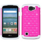 LG Optimus Zone 3 / Spree Hot Pink/Solid White FullStar Case
