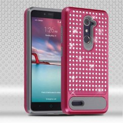 ZTE Grand X Max 2 Hot Pink/Iron Gray Diamante FullStar Case