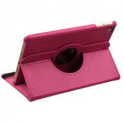 AppleiPad Mini 4th Gen Hot Pink Premium Rotatable Wallet
