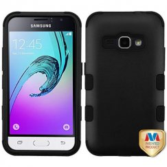 Samsung Galaxy J1 Rubberized Black/Black Hybrid Case