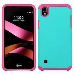 LG X Style / Tribute HD Teal Green/Hot Pink Astronoot Case