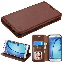 Samsung Galaxy On7 Brown Wallet with Tray