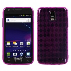 Samsung Galaxy S2 Skyrocket Hot Pink Argyle Pane Candy Skin Cover