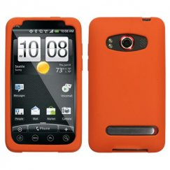 HTC EVO 4G Solid Skin Cover - Orange