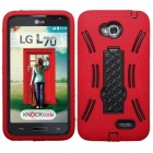 LG Optimus L70 Black/Red Symbiosis Stand Case
