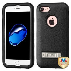 Apple iPhone 7 Natural Black/Black Hybrid Case with Stand