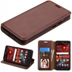 ZTE Grand X 4 Brown Wallet with Tray