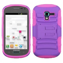 Samsung Galaxy Exhibit Purple/Electric Pink Advanced Armor Stand Case