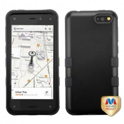 Amazon Amazon Fire Phone Rubberized Black/Black Hybrid Case
