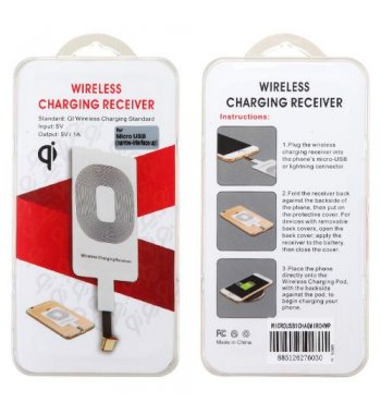 Wireless Charging Receiver for Micro USB (Narrow-interface Up)