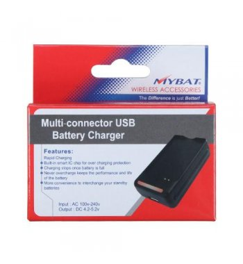 Huawei Ascend II / Prism / Summit Multi-connector USB Battery Charger
