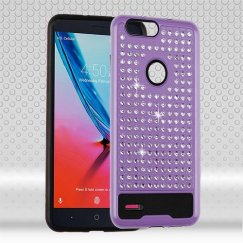 ZTE Blade Z Max / Sequoia Z982 Purple/Black Diamante FullStar Case