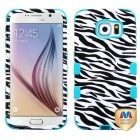 Samsung Galaxy S6 Zebra Skin/Tropical Teal Hybrid Case