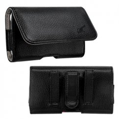 LG Revolution Black/Gray Textured Horizontal Pouch