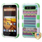 ZTE Speed Tribal Sun/Electric Green Hybrid Case with Stand