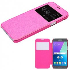 Samsung Galaxy J3 Electric Pink Glittering (with Transparent Frosted Tray)(96G) -WP