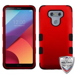 LG G6 Titanium Red/Black Hybrid Case Military Grade