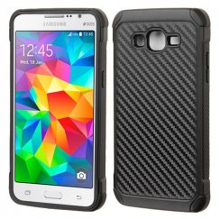 Samsung Galaxy Grand Prime Carbon-Fiber Backing/Black Astronoot Case