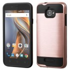 Coolpad Catalyst Rose Gold/Black Brushed Hybrid Protector Cover