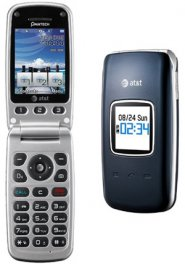 Pantech Breeze II P2000 Flip Phone - ATT Wireless - Blue
