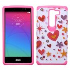 LG Escape 2 Heart Graffiti(White)/Hot Pink Advanced Armor Case
