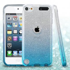 Apple iPod Touch (6th Generation) Blue Gradient Glitter Hybrid Case