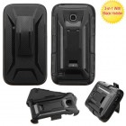Huawei Union Y538 Black/Black Advanced Armor Stand Protector Cover (With Black Holster)
