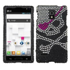 LG Optimus L9 Skull Diamante Case