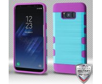 Metallic Baby Blue/Electric Purple Brushed Hybrid Protector Cover [Military-Grade Certified]