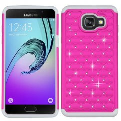 Samsung Galaxy A5 Hot Pink/Solid White FullStar Case