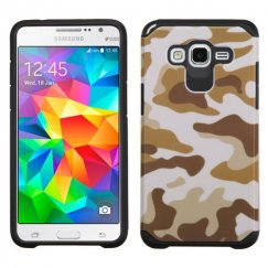 Samsung Galaxy Grand Prime Camouflage Brown/Black Advanced Armor Case